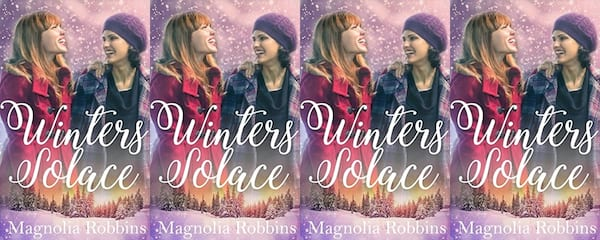 beauty, The cover of Winter Solace by Magnolia Robbins, Holiday Books For Bi and Lesbian Romantics