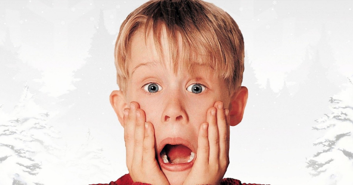 kevin mccallister mouth open shocked, christmas movie