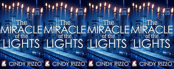 books, the cover of The Miracle of the Lights by Cindy Rizzo, Holiday Books For Bi and Lesbian Romantics