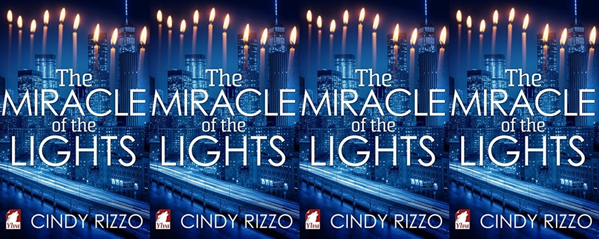 Holiday Books For Bi and Lesbian Romantics, the cover of The Miracle of the Lights by Cindy Rizzo, books