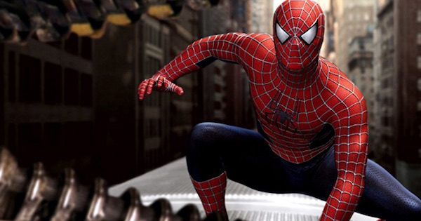 spider-man crouched down outside, movies