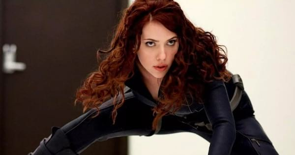 black widow crouched down, marvel movies
