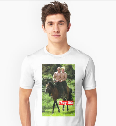 'Thug Life' Putin and Trump T-shirt from Redbubble