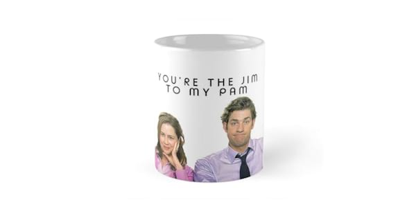 gifts for fans of the office, jim and pam