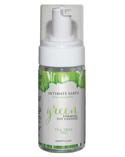 Green Tea Tree Oil Foaming Toy Cleaner from Adam & Eve