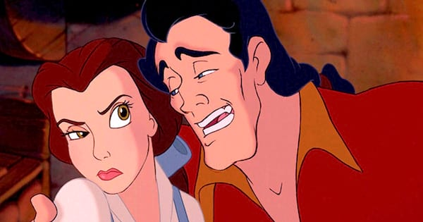 Disney, movies/tv, beauty and the beast, belle, gaston, disgusted