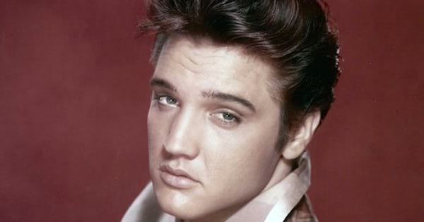 elvis presley face on a red background, Christmas music