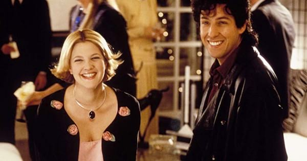 adam sandler and drew barrymore in the wedding singer, romantic comedy movies