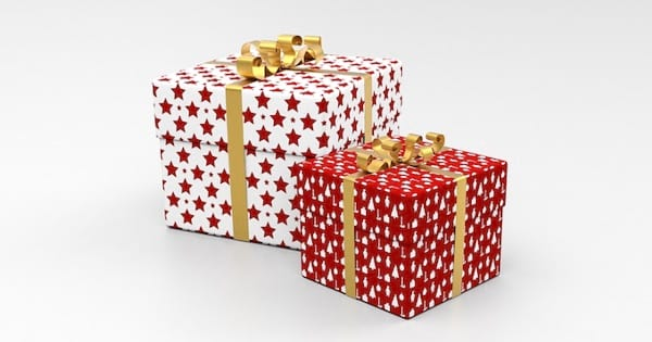 white and red wrapped christmas gifts