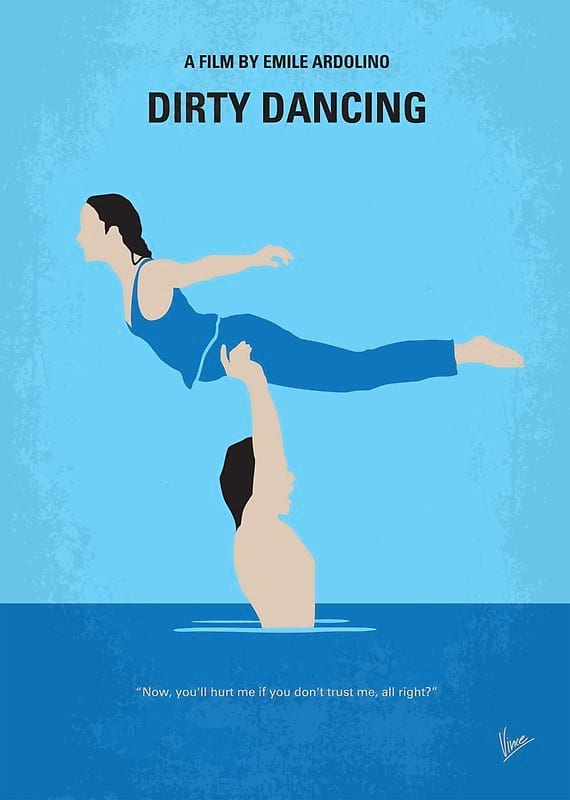 Dirty Dancing minimal movie poster from Redbubble