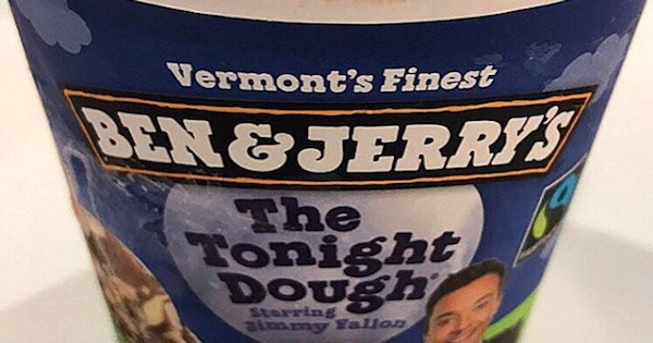 ben and jerry's the tonight dough ice cream with jimmy fallon