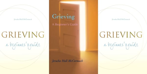 Books to Read When You're Grieving, two different covers of Grief: A Beginner's Guide, books