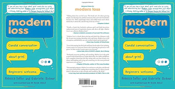 Books to Read When You're Grieving, the front and back covers of Modern Loss, books