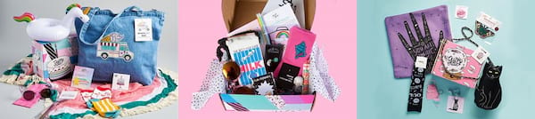 Subscription Boxes Gift Ideas, three images of Quirky-Crate