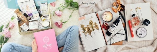 Subscription Boxes Gift Ideas, two images of the TheraBox subscription box