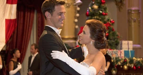 emily and her prince boyfriend dressed up dancing, hallmark movies