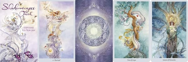 Tarot For Beginners, five images from the Shadowscapes Tarot, culture