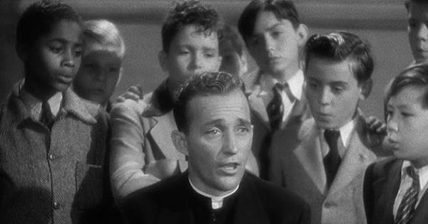 priest played by bing crosby and choir of young boys singing behind him, movies