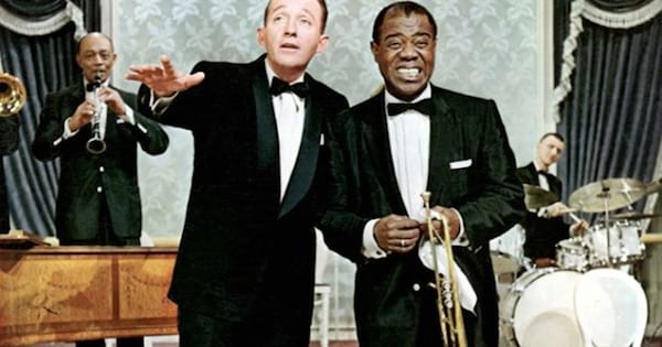 dexter haven singing on stage with men with instruments, bing crosby movies