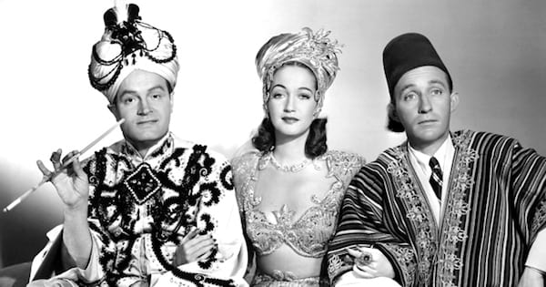 moroccan princess and two men in black and white, bing crosby movies