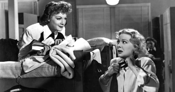 two women at bunks in black and white, bing crosby movies