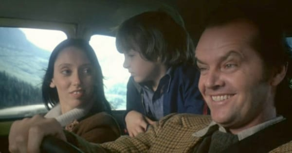 The Torrance family driving to Colorado in The Shining