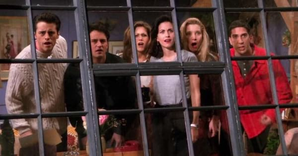 Scene from the NBC show Friends.