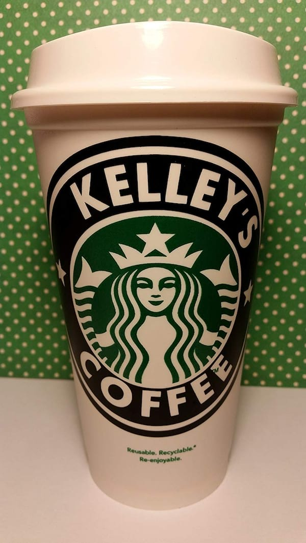 Personalized Starbucks coffee cup from Amazon
