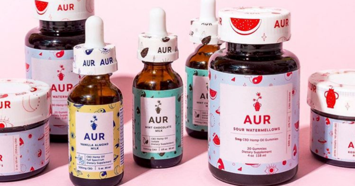 AUR Body's line of CBD-infused products