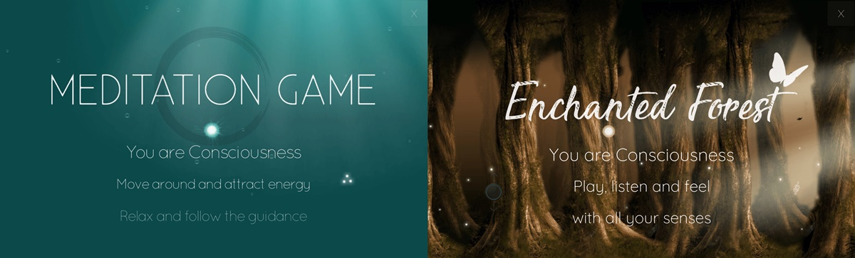 Relaxing Phone Games, an image of Meditation Game and Enchanted Forest, science & tech