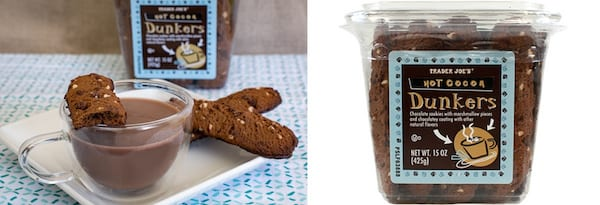 Affordable Holiday Treats, two images of Trader Joe's Hot Cocoa Dunkers, food & drinks