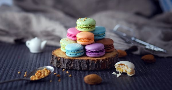 Affordable Holiday Treats, image of various colored macaroons, food & drinks