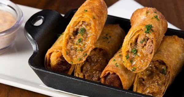 cheeseburger spring rolls cheesecake factory appetizer
