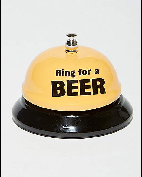 'Ring for Beer' bell from Spencer's