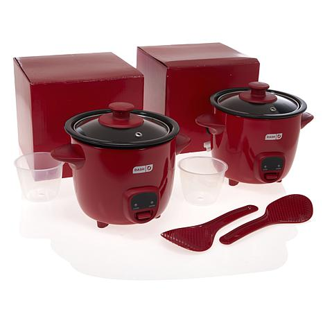 DASH 2-pack 2-Cup Mini Rice Cookers from HSN