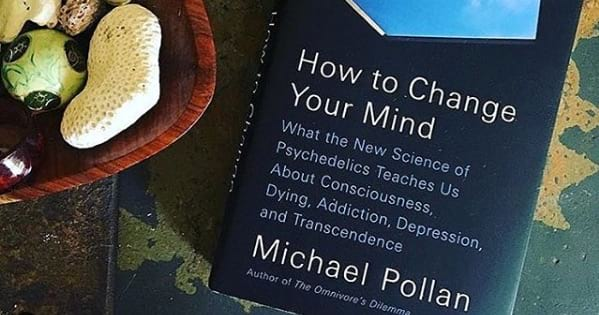 how to change your mind book sitting on table, 2018 books