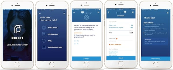 How To Buy Birth Control Online, 5 images of the Planned Parenthood app, health