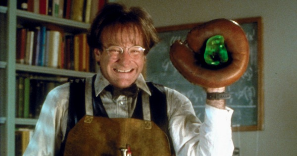 robin williams holding flubber, disney movies