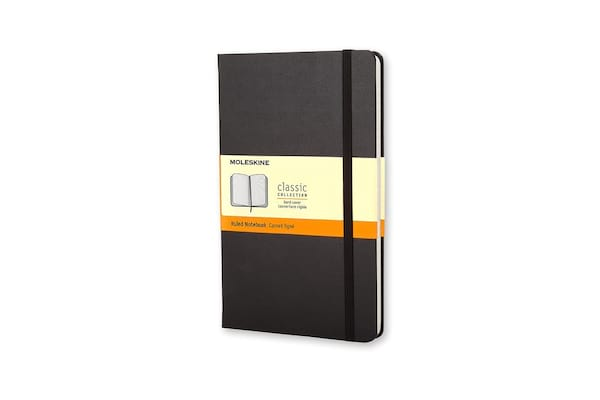 Moleskine Classic Hard Cover Notebook from Amazon