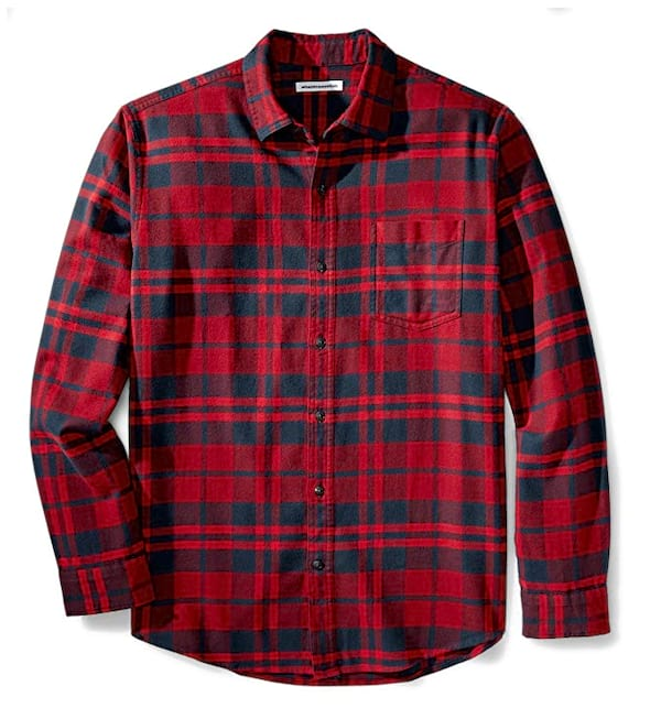 Men's red flannel from Amazon