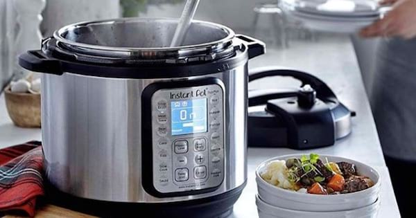 instant pot pressure cooker with bowl of food, target