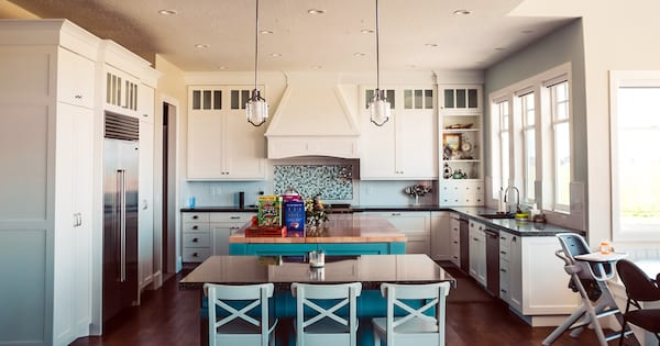 DIY To Make Your House Run Efficiently, photo of a light blue kitchen, home