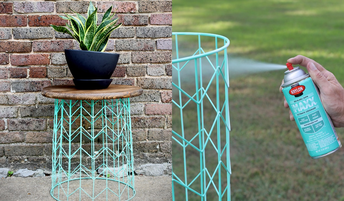DIY Projects To Refresh Your Home, two images of a DIY end table, home