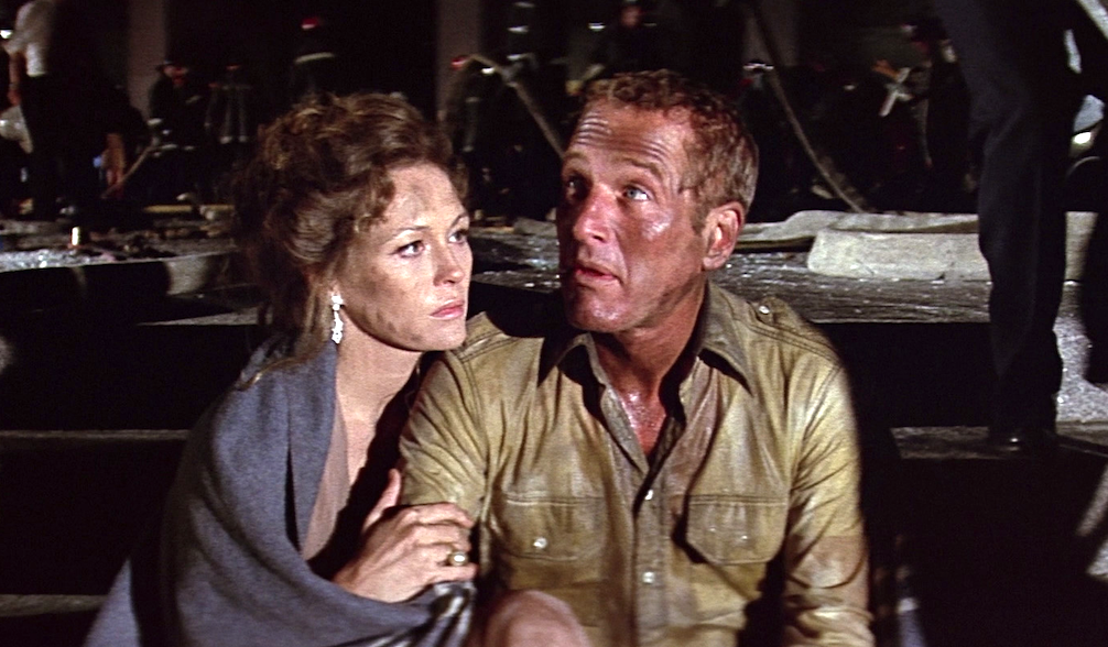 movies, the towering inferno, 1974, paul newman