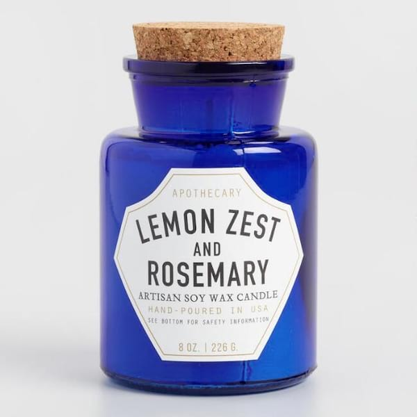 Lemon Zest and Rosemary-scented candle from World Market