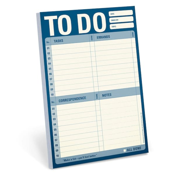 To-do list notepad from Amazon