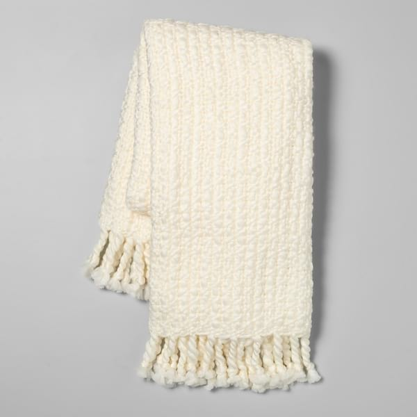 Chunky woven blanket from Target