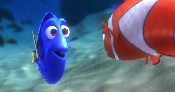 dory and marlin animated characters from finding nemo, Disney