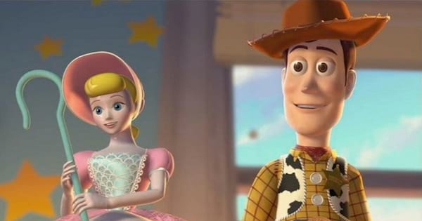 woody and bo peep in toy story animated film, Disney characters
