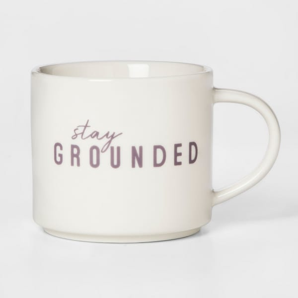 'Stay Grounded' coffee mug from Target